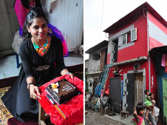 Asma is 23 years old and studied business. She now works for Tata Consultancy Services. Her parents built their house 35 years ago.