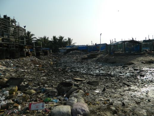 Waste accumulated at Versova Jetty