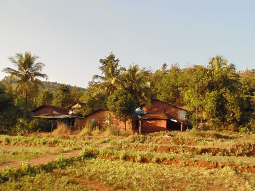 A house in Ukshi, Rutuja's grandfather's village.