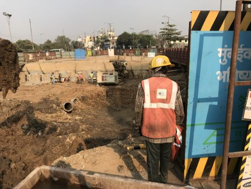 Dharavi metro station under construction