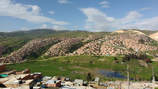 View of Ciudadela Sucre District from Altos del Pino