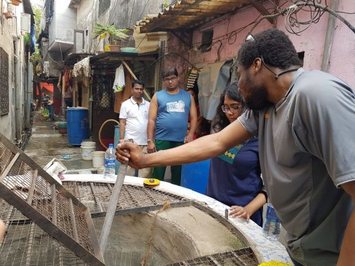 On-ground survey of the wells in Dharavi