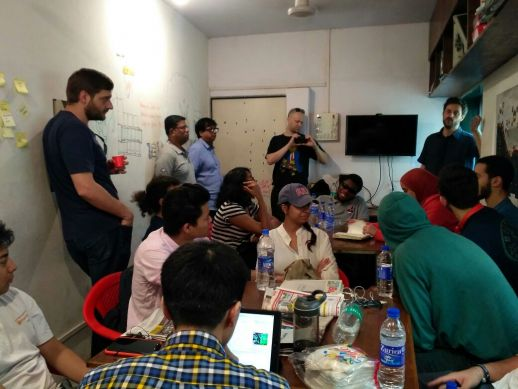 Team discussions and work sessions at Urbz, Mumbai