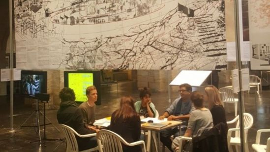 urbz' exhibit at Arc en Rêve centre of Architecture, Bordeaux. Interactive sessions with the visitors of the exhibition